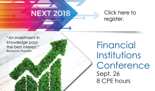 Financial Institutions Conference is on Sept. 26. Register now!